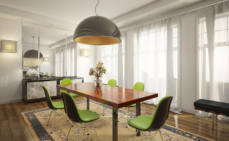26 Beautiful and Bright Dining Room Designs-22