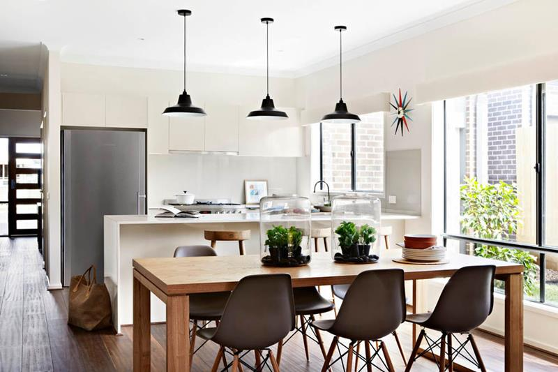 26 Beautiful and Bright Dining Room Designs-25