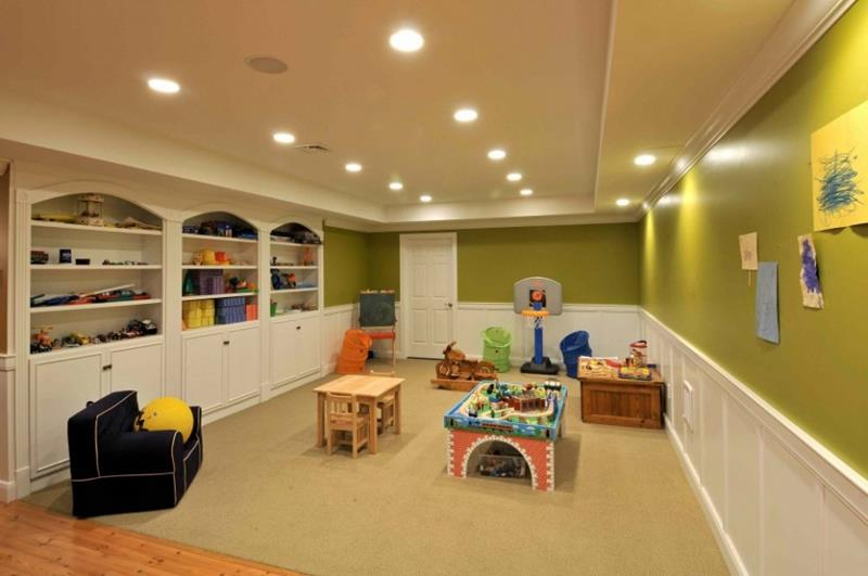 26 Charming and Bright Finished Basement Designs-14