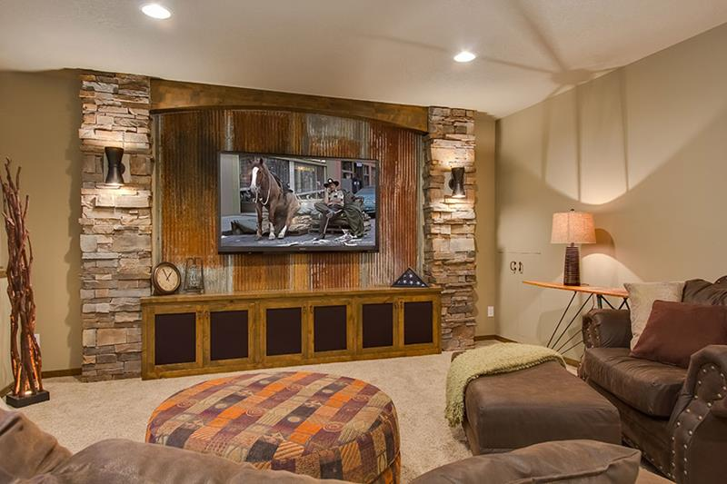 26 Charming and Bright Finished Basement Designs-15