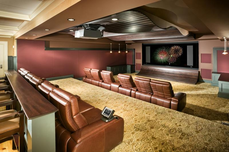 27 Luxury Finished Basement Designs-10