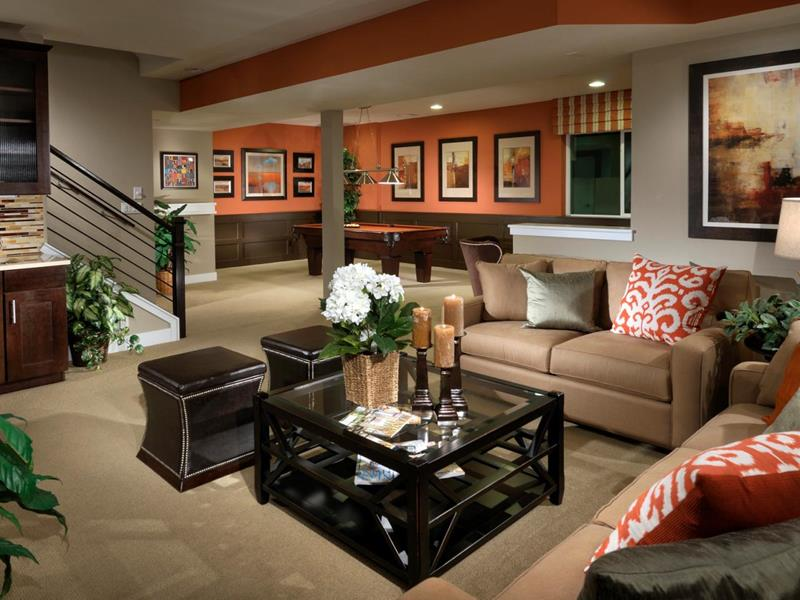 27 Luxury Finished Basement Designs-11