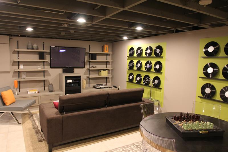 27 Luxury Finished Basement Designs-13