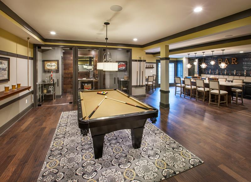 27 Luxury Finished Basement Designs-14