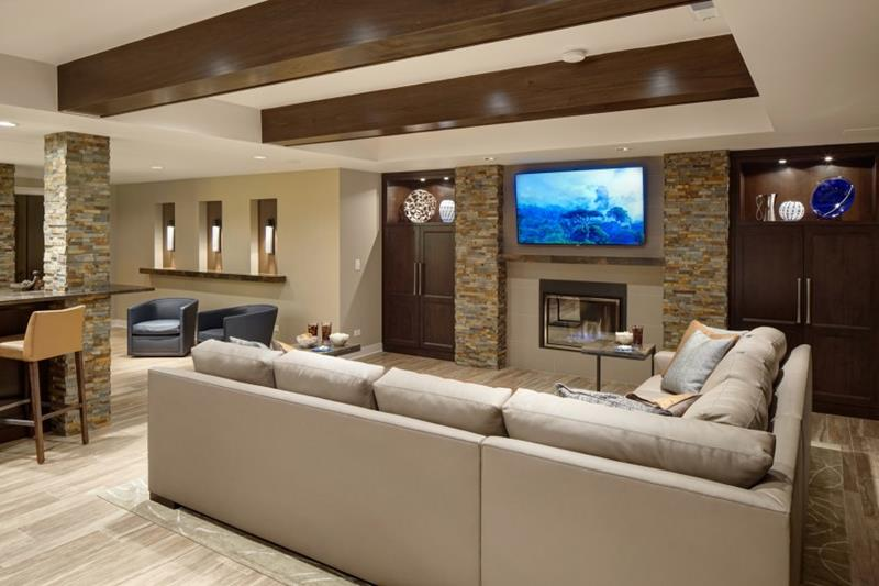 27 Luxury Finished Basement Designs-18