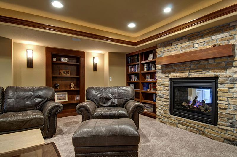 27 Luxury Finished Basement Designs-22
