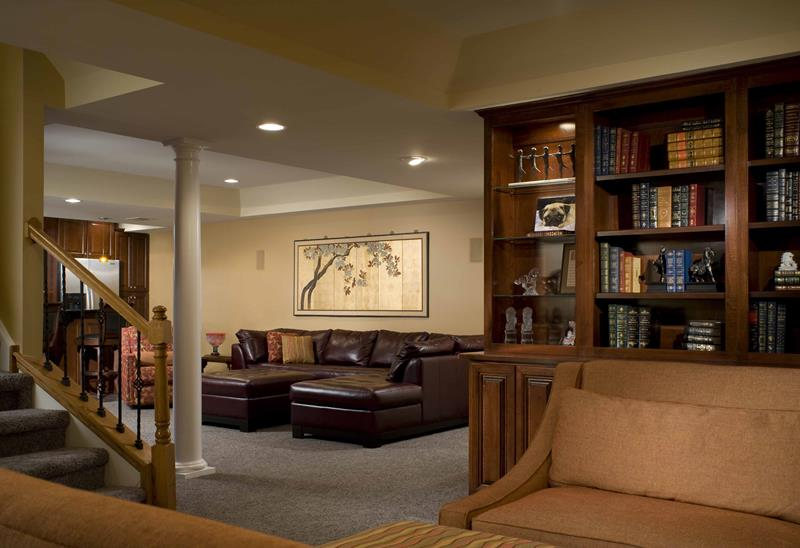 27 Luxury Finished Basement Designs-23