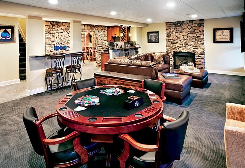 27 Luxury Finished Basement Designs-25