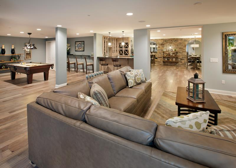 27 Luxury Finished Basement Designs-27