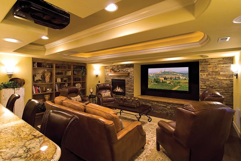 27 Luxury Finished Basement Designs-6