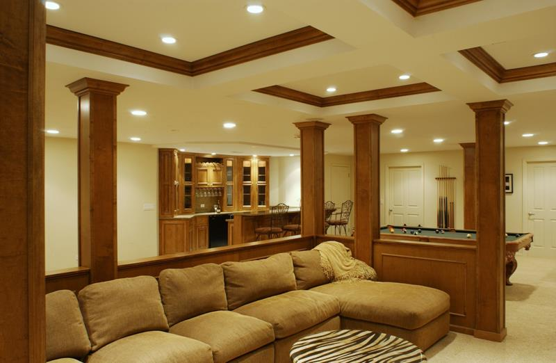 27 Luxury Finished Basement Designs-7