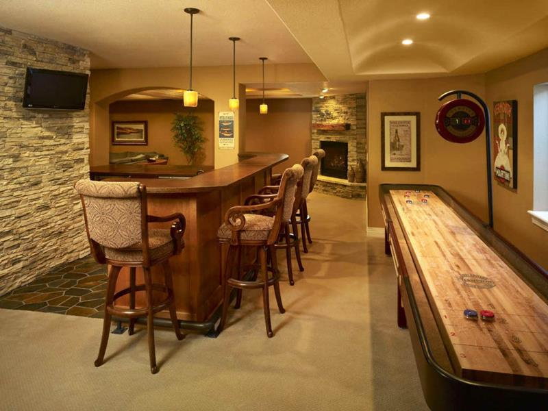 27 Luxury Finished Basement Designs-9