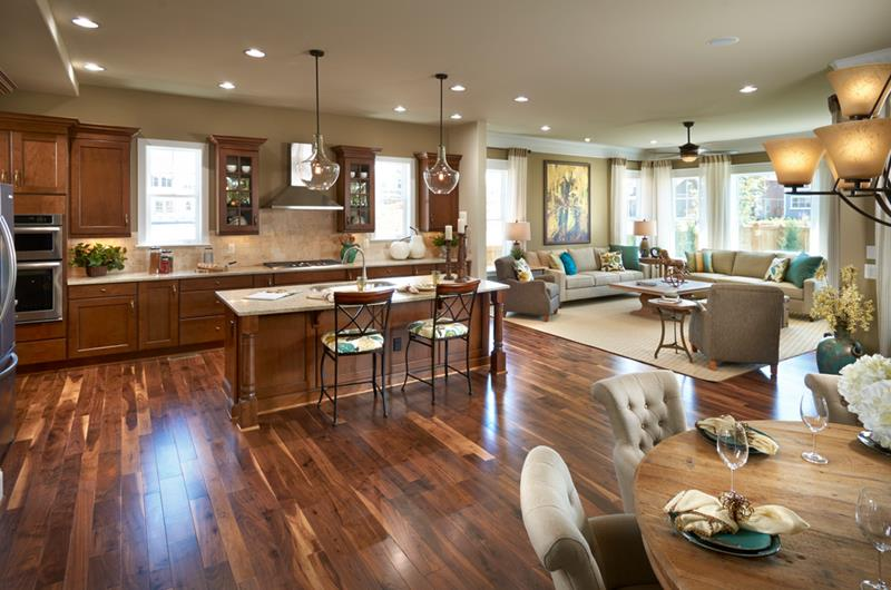 29 Awesome Open Concept Dining Room Designs-16
