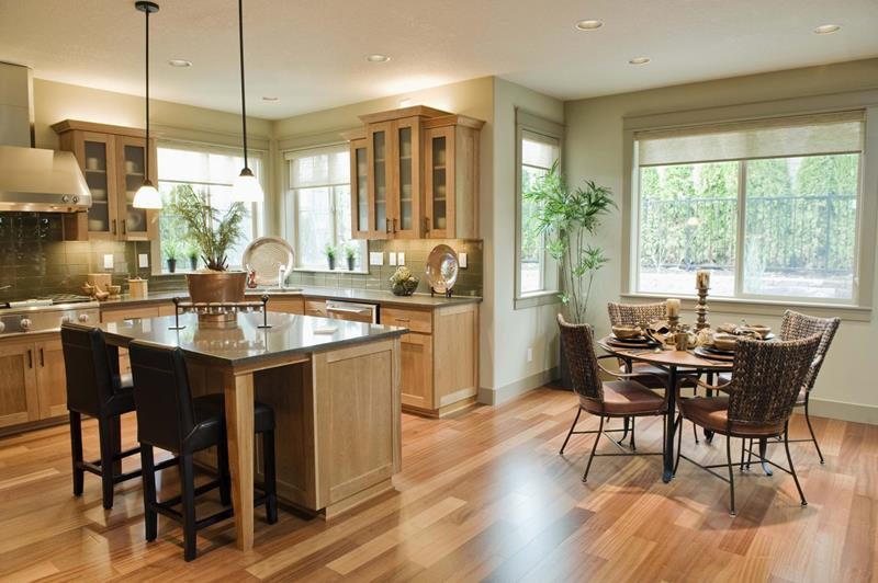 29 Awesome Open Concept Dining Room Designs-2