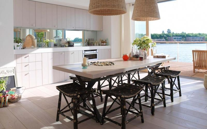 29 Awesome Open Concept Dining Room Designs-20