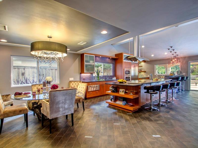 29 Awesome Open Concept Dining Room Designs-29