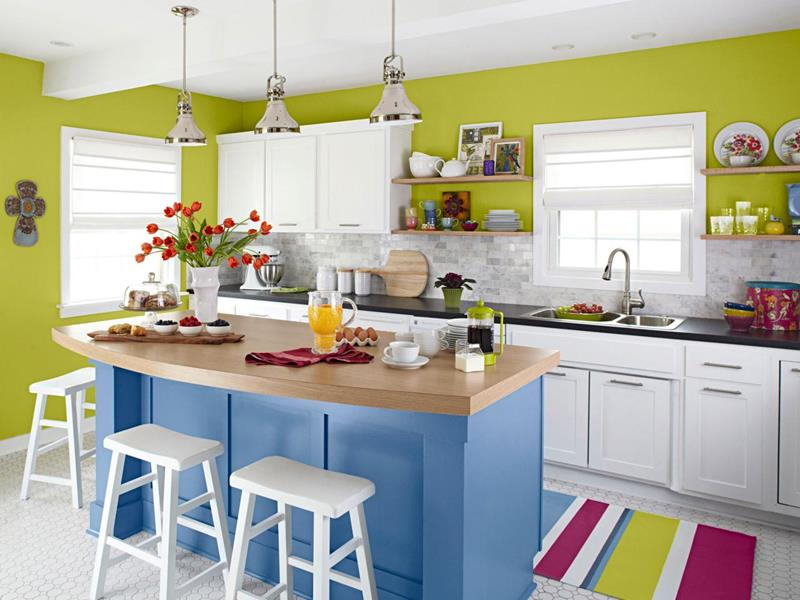 51 Awesome Small Kitchen With Island Designs-14