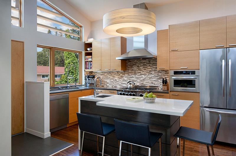 51 Awesome Small Kitchen With Island Designs-24