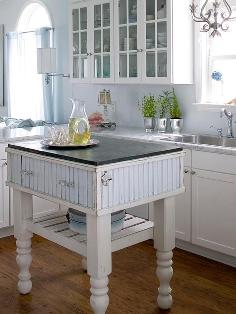 51 Awesome Small Kitchen With Island Designs-30