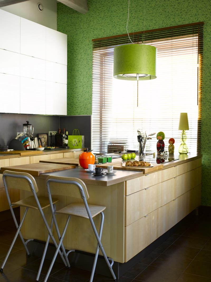 51 Awesome Small Kitchen With Island Designs-45