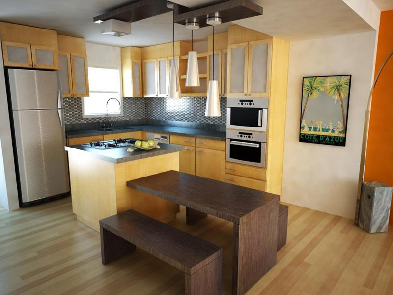 51 Awesome Small Kitchen With Island Designs-8