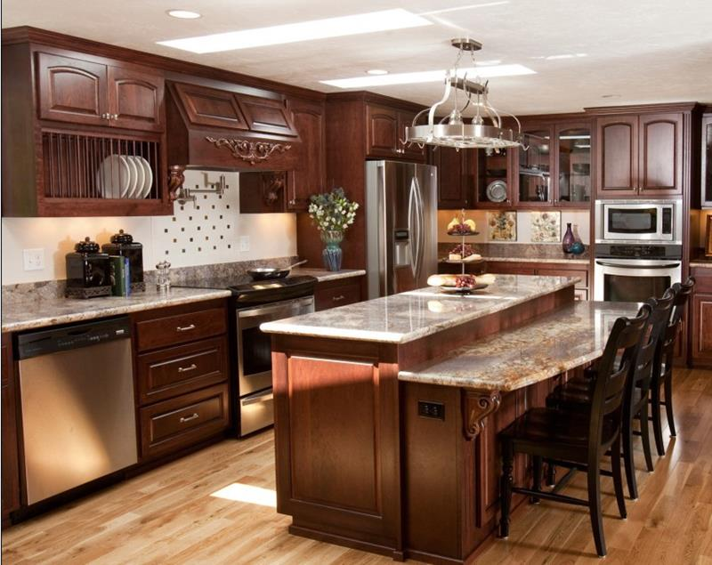 81 Absolutely Amazing Wood Kitchen Designs-21