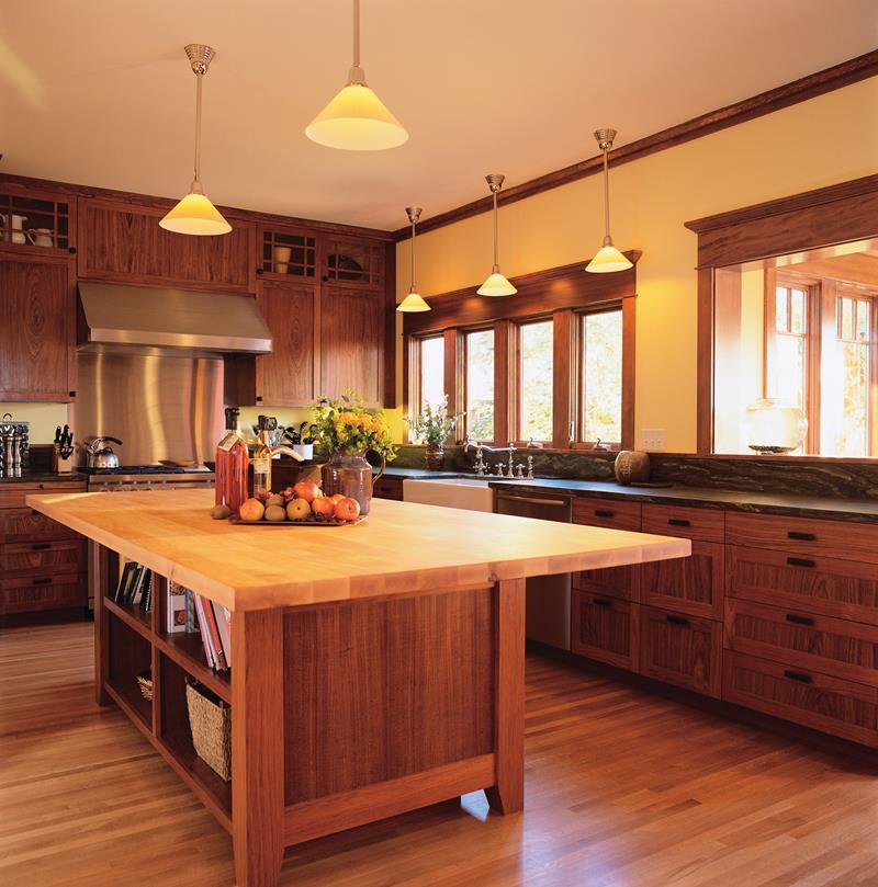Arts and Crafts Style Kitchen --- Image by © Royalty-Free/Corbis