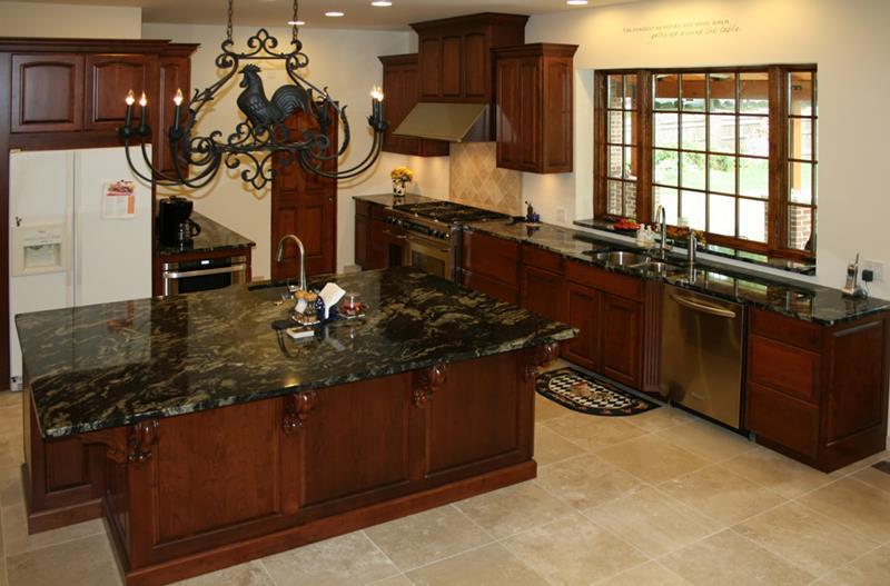 20 Beautiful Kitchens with Dark Kitchen Cabinets Design-13