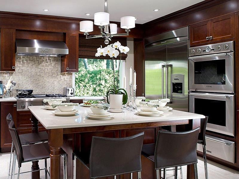 20 Beautiful Kitchens with Dark Kitchen Cabinets Design-14