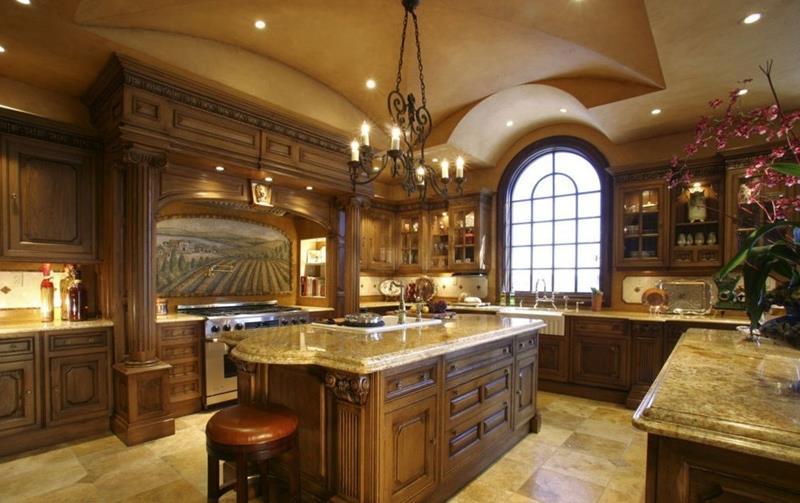 20 Beautiful Kitchens with Dark Kitchen Cabinets Design-19