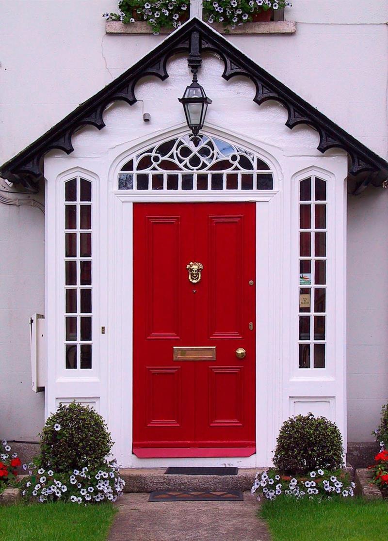 21 Cool Front Door Designs For Houses-14