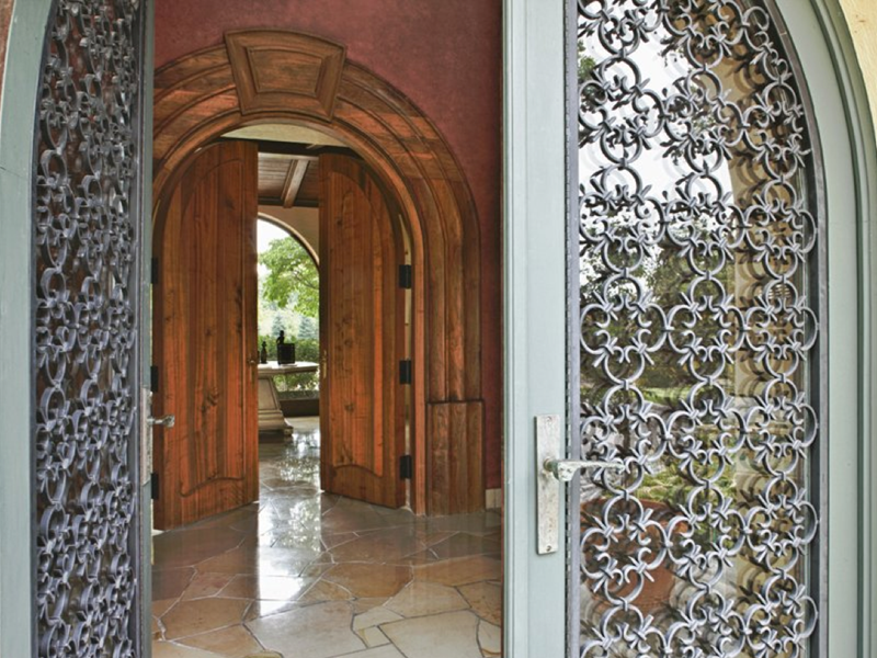 21 Cool Front Door Designs For Houses-16