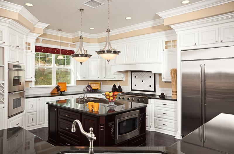 Beautiful Custom Kitchen Interior in a New House
