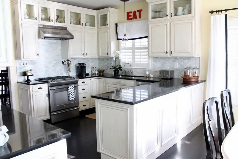 40 Pristine And White Home Kitchens-19