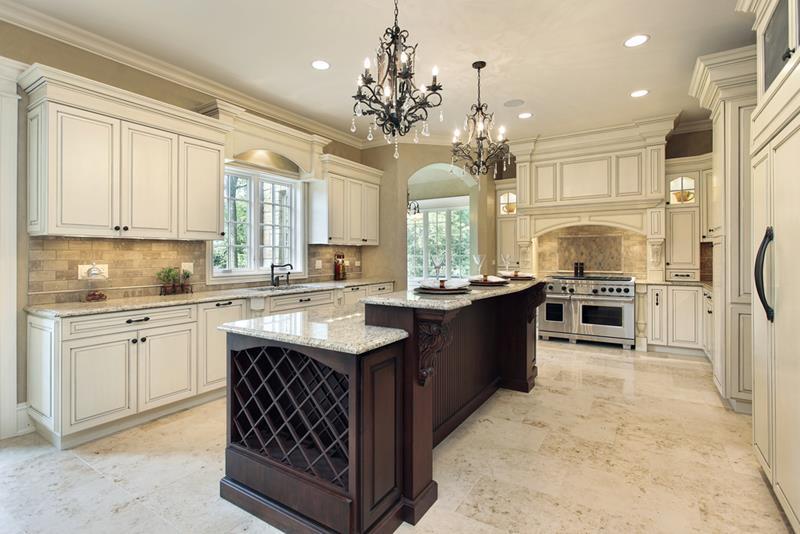 40 Pristine And White Home Kitchens-2