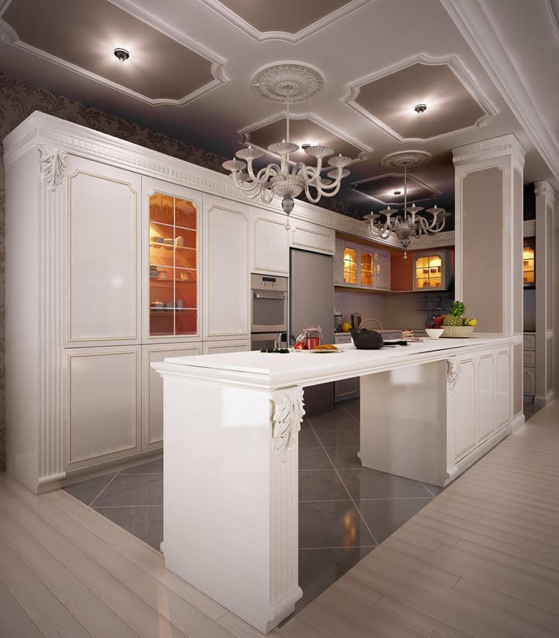40 Pristine And White Home Kitchens-20