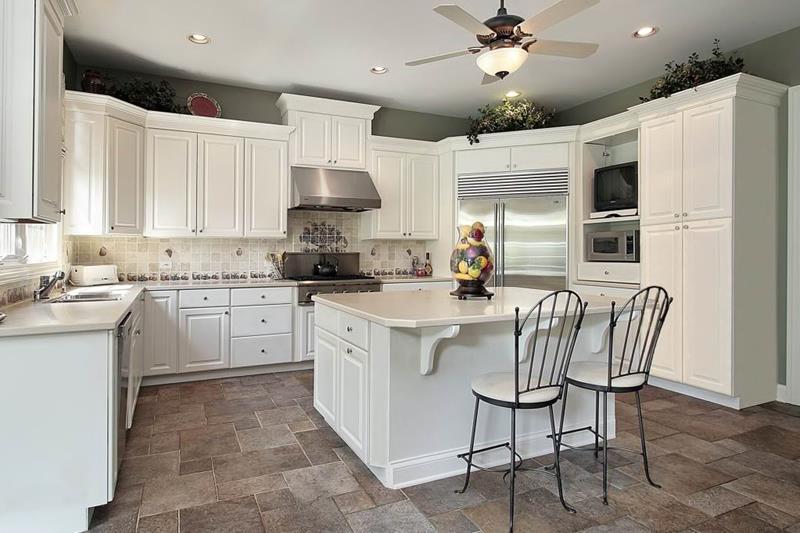 40 Pristine And White Home Kitchens-21