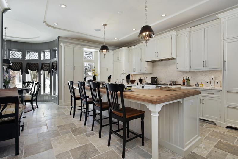40 Pristine And White Home Kitchens-3
