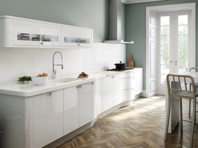 40 Pristine And White Home Kitchens-36