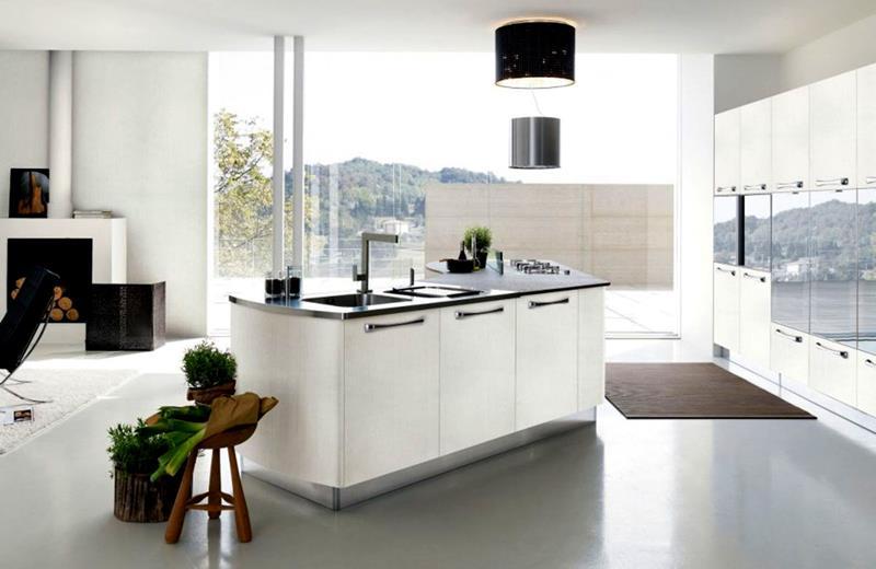 40 Pristine And White Home Kitchens-40