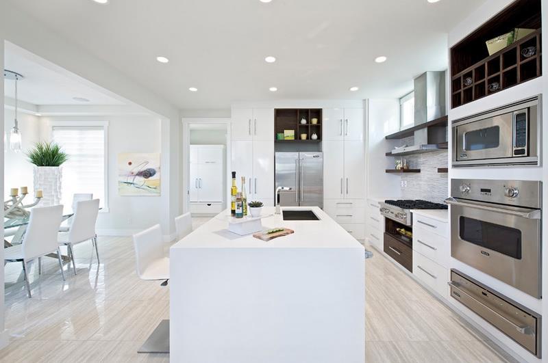 40 Pristine And White Home Kitchens-5