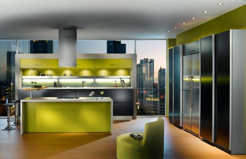 55 Luxury Contemporary Kitchen Designs-35