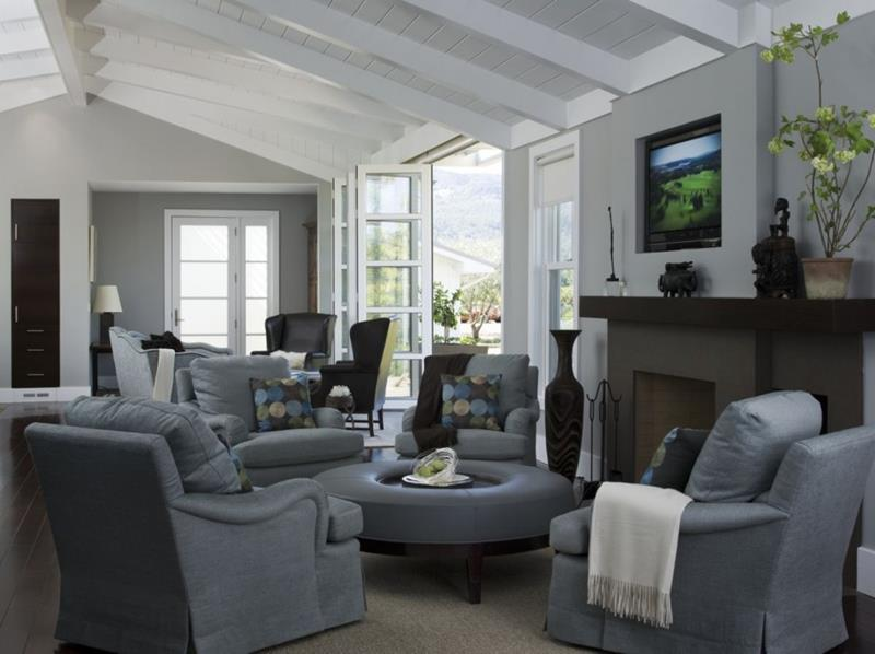 67 Gorgeous Family Room Interior Designs-47