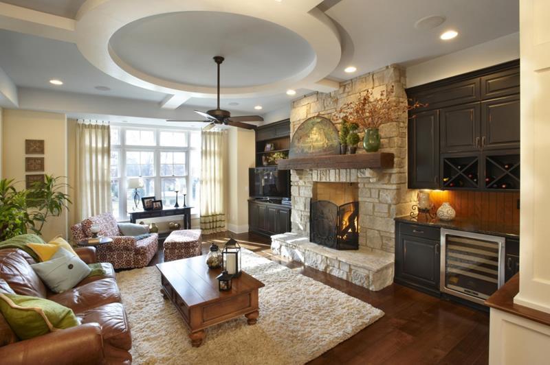 67 Gorgeous Family Room Interior Designs-5