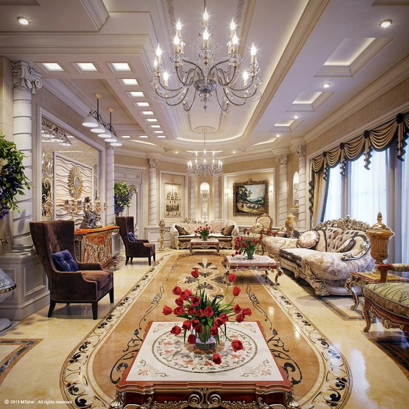 68 Interior Designs For Grand Living Rooms-5