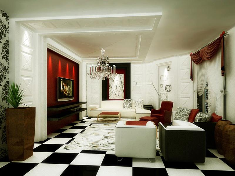 68 Interior Designs For Grand Living Rooms-61