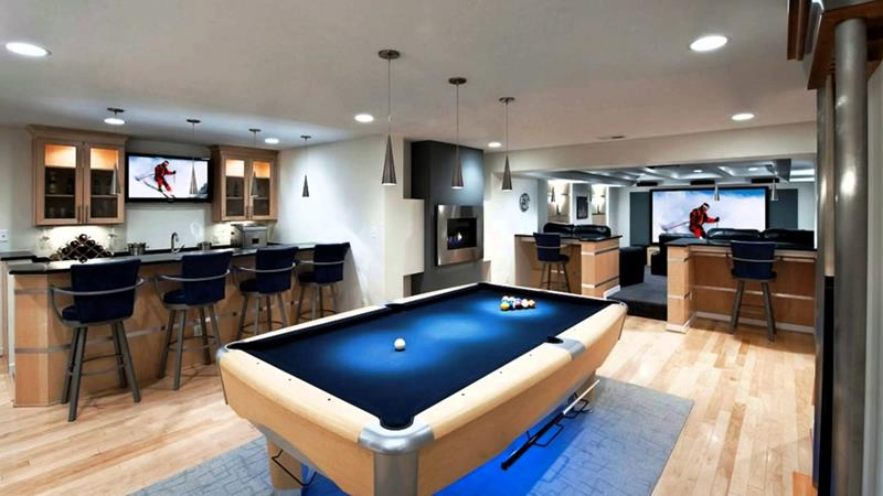 70 Awesome Man Caves In Finished Basements And Elsewhere-11
