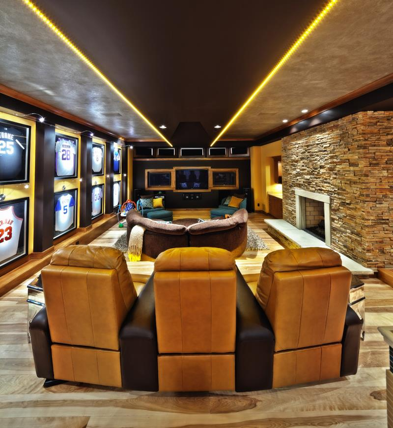 70 Awesome Man Caves In Finished Basements And Elsewhere-60