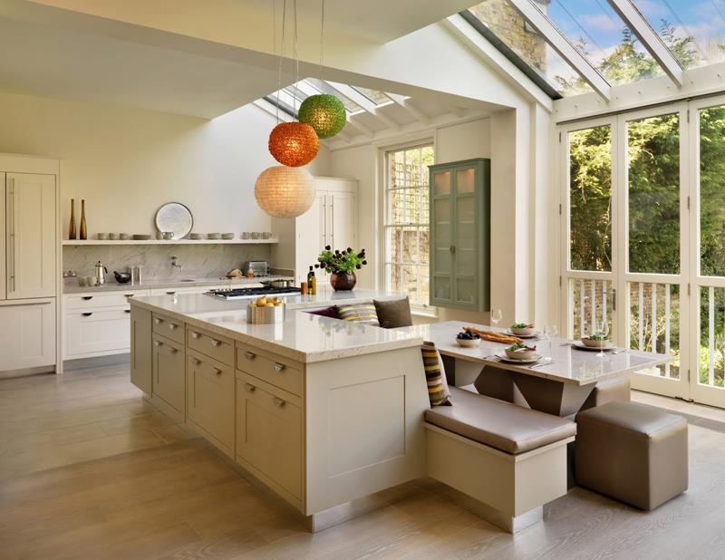 72 Luxurious Custom Kitchen Island Designs-18