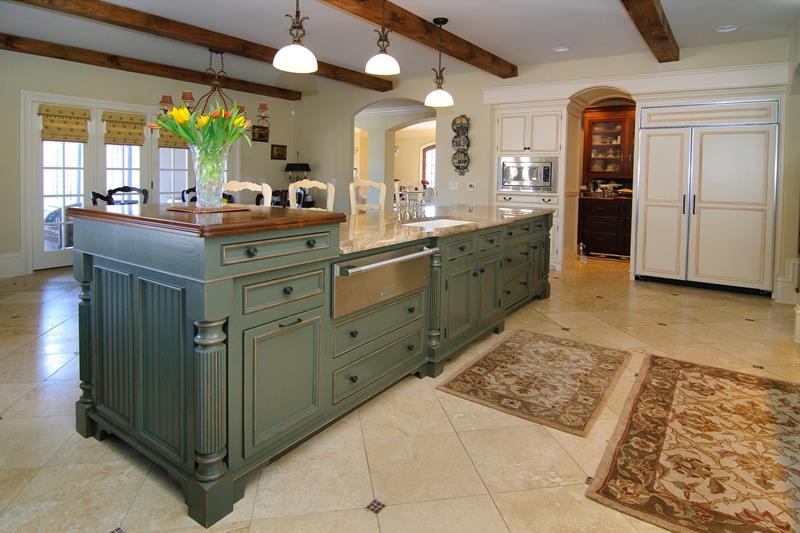 72 Luxurious Custom Kitchen Island Designs-2